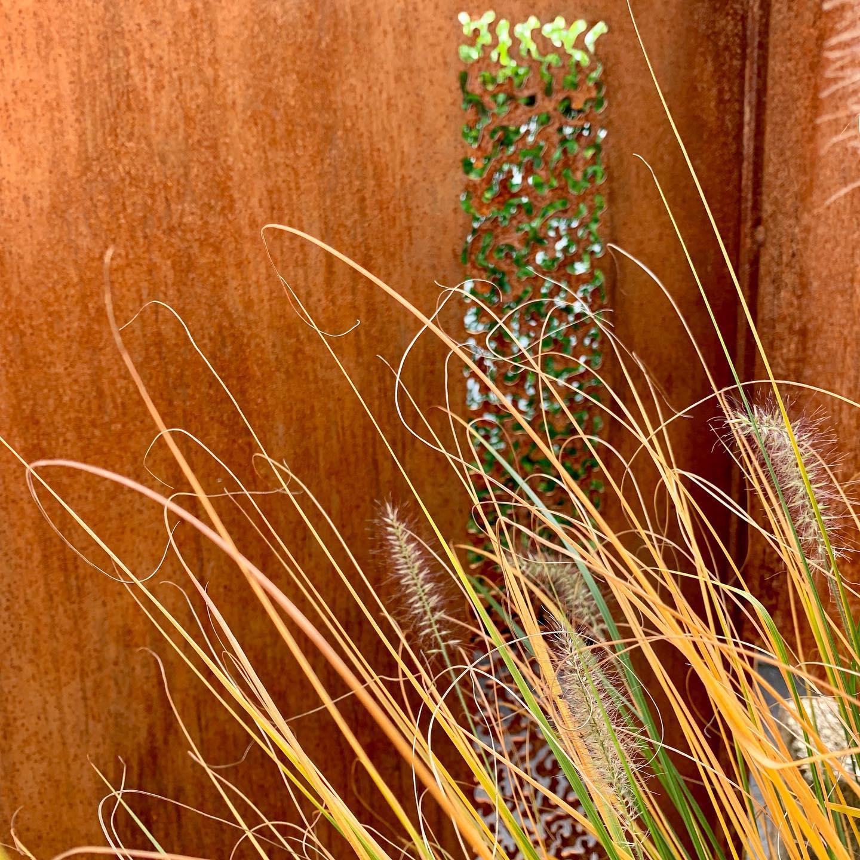 Herbst U Stahl Ornamente Stahl Metall Rostig Gartendesign